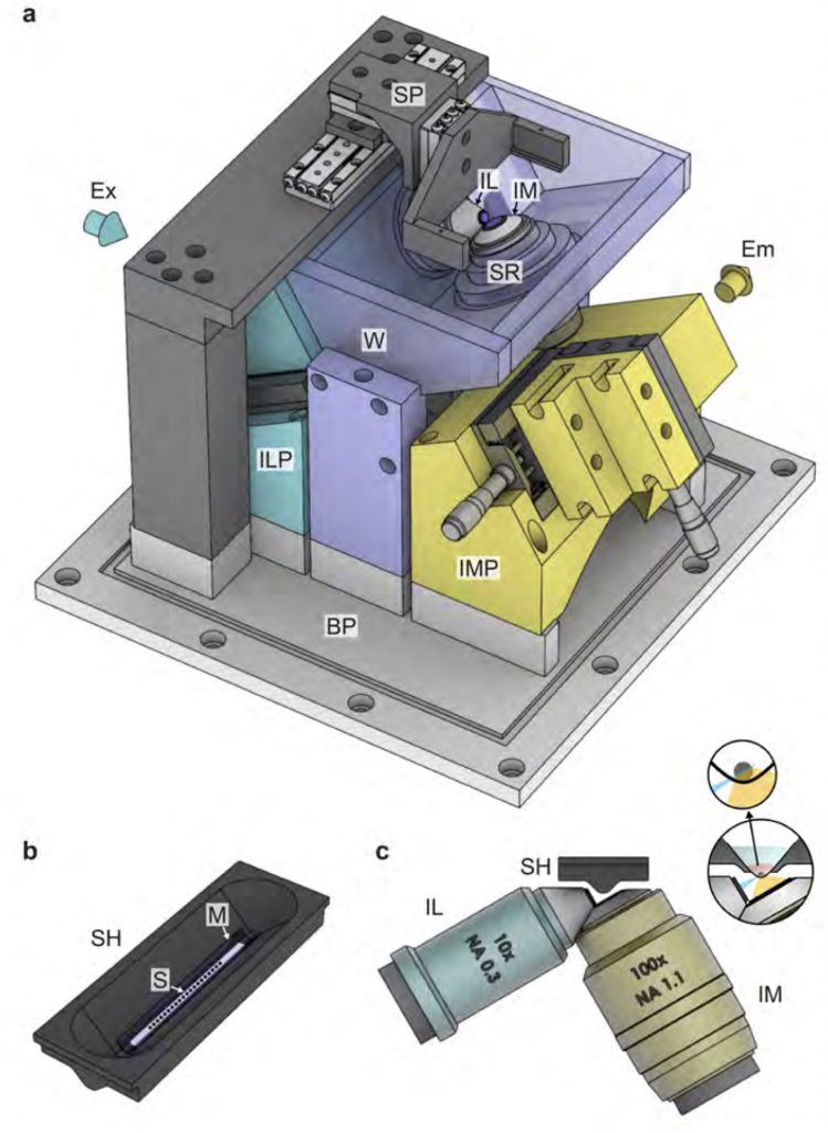 Inverted light sheet microscope